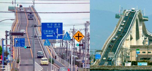 Nhật Bản tuyệt vời, cây cầu vượt dầu cần phải dốc như thế này? Hoặc người sáng tạo, anh dự định cho người lái xe vui chơi như đang ở trong công viên giải trí