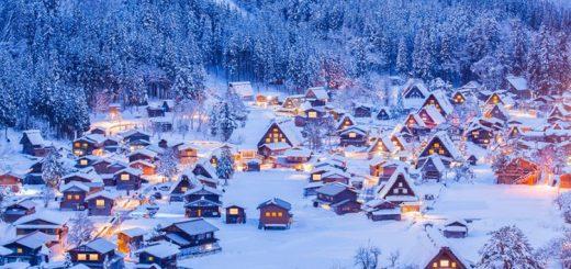 Ghé thăm những ngôi nhà mái tranh truyền thống ở làng cổ Shirakawa và Gokayama vào mùa đông