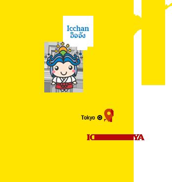 แผนที่ เมืองอิจิโนะมิยะ