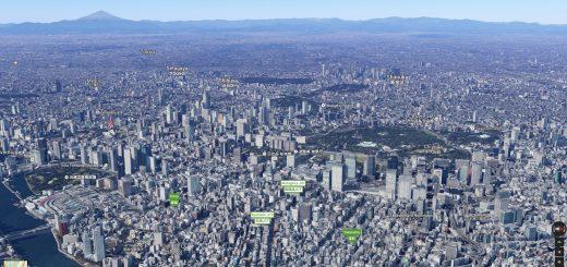 ชมกรุงโตเกียวและเมืองรอบๆในรูปแบบ3มิติด้วย Google Maps !