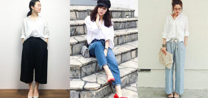 เทคนิคการมิกซ์แอนด์แมตช์แฟชั่นเสื้อเชิ้ตธรรมดาๆ ให้ดูมีสไตล์โดยแฟชั่นนิสต้าตัวแม่ของญี่ปุ่น