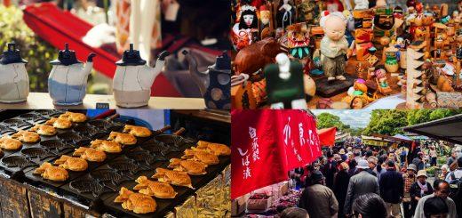 จดวันไว้เลยเพราะไป 1 ได้ 2 เที่ยววัดพร้อมงาน Flea Market ที่เกียวโต