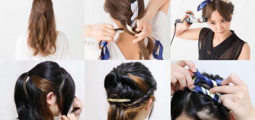 เทคนิกเปลี่ยนทรงผมธรรมดาให้ดูดีขึ้นได้ในพริบตาด้วยผ้าผูกผม Hair-Scarf ตามฉบับสาวญี่ปุ่น