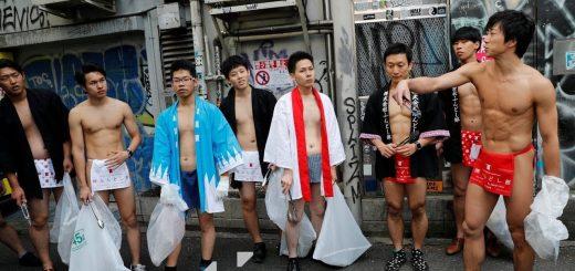 แปลกแต่พบได้ในญี่ปุ่นทีเดียวเท่านั้น  เมื่อสมาคมนุ่งผ้าเตี่ยวพร้อมใจกันเก็บขยะให้โตเกียวเป็นเมืองที่สะอาด (มีคลิป)