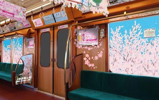 ต้อนรับฤดูใบไม้ผลิด้วยรถไฟธีมซากุระสายกินซ่าที่เปิดให้บริการถึงต้นเดือนเมษายนนี้!