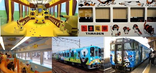 มารู้จักกับ 5 ขบวนรถไฟที่มาพร้อมกับการตกแต่งด้วยคาแรคเตอร์สุดน่ารักในประเทศญี่ปุ่น