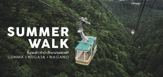 Summer walk  ขึ้นกระเช้า เข้าป่า ศึกษางานคราฟท์ ที่จังหวัด Gunma • Niigata • Nagano ตอน Gunma-กุนมะ