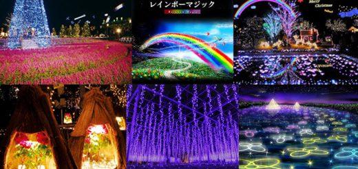 """ไปเที่ยวชมไฟประดับที่สวนดอกไม้อาชิคางะรับลมหนาวที่ครั้งนี้มีดวงไฟถึง 4.5 ล้านดวงในธีม """"Flower Fantasy & Garden of Light Flower 2018"""""""
