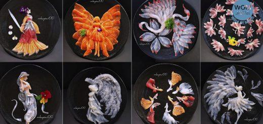 อะไรจะเด็ดเบอร์นั้น นี่มันศิลปะการจัดจานซาชิมิขั้นเทพเลยนี่นา